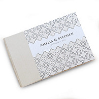 Moroccan Lattice Personalized Guest Book
