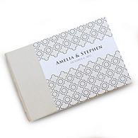 Moroccan Lattice Personalized Guest Book