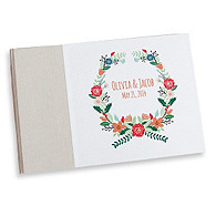 Floral Wreath Personalized Guestbook