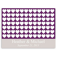 Personalized Guest Signature Frame - Purple Hearts