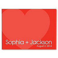 Personalized Guest Signature Frame - Modern Red Heart
