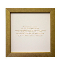 With This Ring Magnetic Guest Signature Frame
