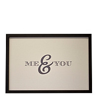 Me & You Magnetic Guest Signature Frame