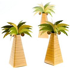 Palm Tree Favor Boxes