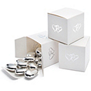 White Double Heart Favor Boxes