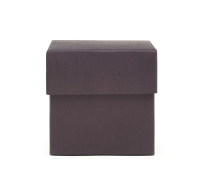 Square Favor Boxes - Dark Plum
