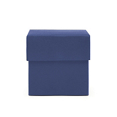 Square Favor Boxes - Navy