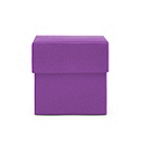 Square Favor Boxes - Plum