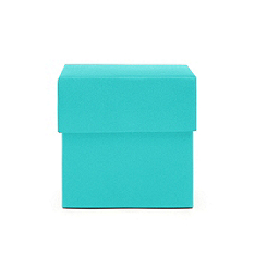 square favor boxes - teal