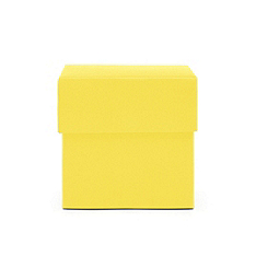 Square Favor Boxes - Yellow