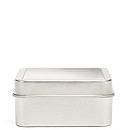 Square Clear Top Favor Tin