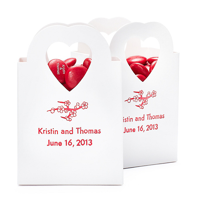 Personalized Heart-handle Favor Boxes