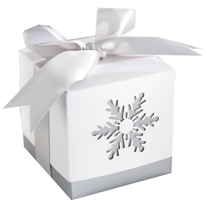 Winter Dreams Laser-Cut Snowflake Favor Boxes