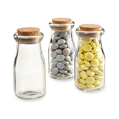 mini milk jar favor holders