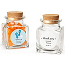 Personalized Square Glass Favor Jar