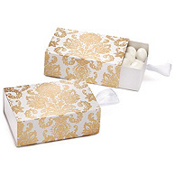 Gold Damask Favor Box