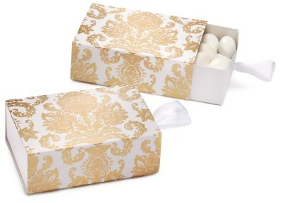 Gold Damask Favor Box