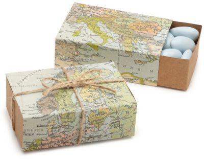 World Map Favor Box