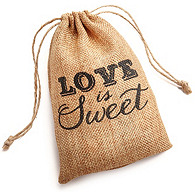 Love is Sweet Burlap Favor Bag