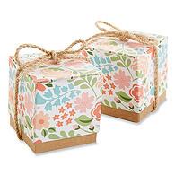 Floral Print Favor Box
