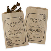 Personalized Vintage Kraft Gourmet Favor Bags