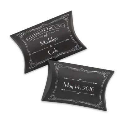 Personalized Chalkboard Pillow Favor Boxes