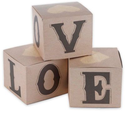 Rustic Love Cupcake Boxes