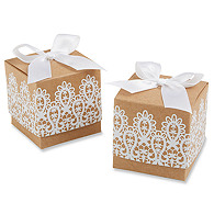 Lace Kraft Favor Box
