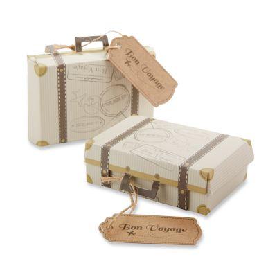 Bon Voyage Vintage Suitcase Favor Boxes