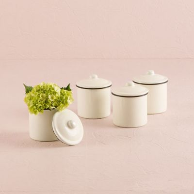 French Provencal Mini Decorative Canisters
