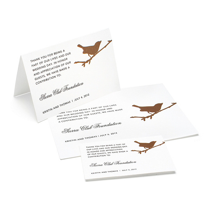 Charity Wedding Favors - Bird (Chocolate)