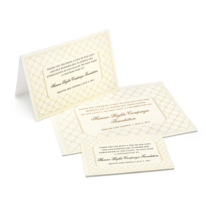Charity Wedding Favors - Diamond (Ivory)