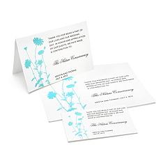 Charity Wedding Favors - Foliage (Blue)