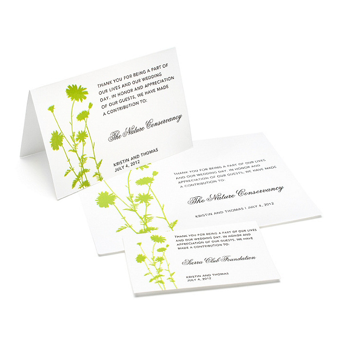 Charity Wedding Favors - Foliage (Grass)
