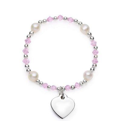 Girls Heart Charm Bracelet