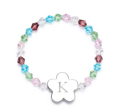 Girls Flower Charm Bracelet