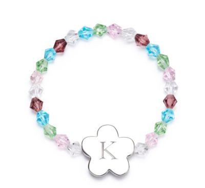 Girls Flower Charm Bracelet