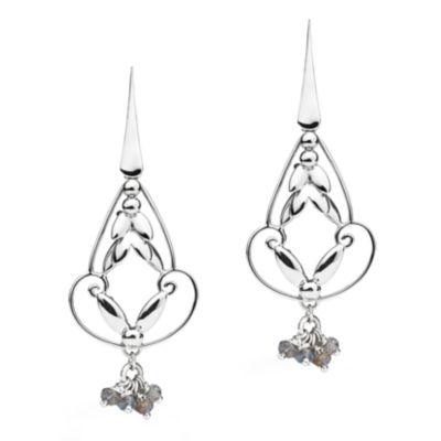 Romance Earrings - Silver with Charm