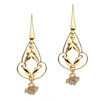 Romance Earrings  - Gold with Charm