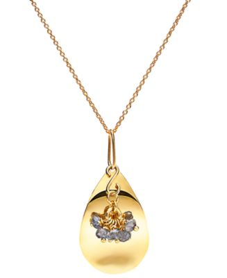 Petal Pendant - Gold with Charm