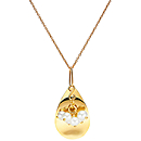 Petal Pendant - Gold with Pearl