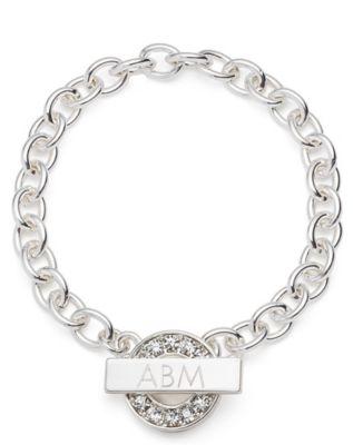 Rhinestone Toggle Bracelet