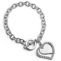 Personalized Heart Frame Bracelet