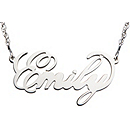 Filigree Name Necklace - Sterling Silver