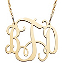Filigree Monogram Necklace - Gold-tone