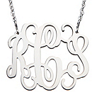 Filigree Monogram Necklace - Sterling Silver