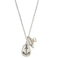 Silver Love is My Anchor Necklace