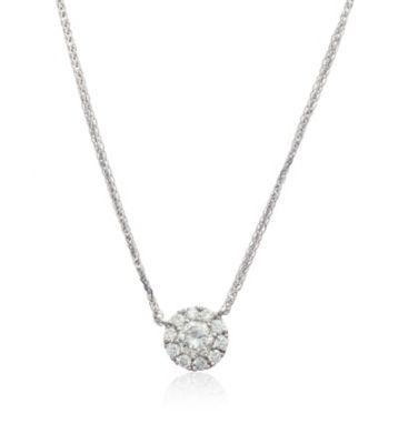 Thomas Laine Diamond Halo Pendant Necklace