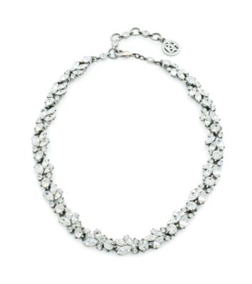 Thomas Laine Marquise and Round Crystal Necklace