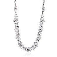 Thomas Laine Floral Crystal Necklace